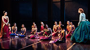 Ruthie Ann Miles as Lady Thiang, Kelli O'Hara as Anna & the cast of 'The King and I'