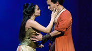Ashley Park as Tuptim & Conrad Ricamora as Lun Tha in 'The King and I'