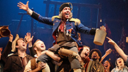Gavin Lee as Thenardier, Rachel Izen as Madame Thenardier & the Company of 'Les Miserables'
