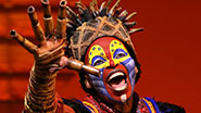 Tshidi Mayne as Rafiki in The Lion King.