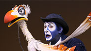 Jeff Binder as Zazu in The Lion King.