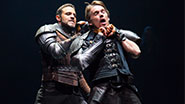 Daniel Sunjata as Macduff & Ethan Hawke as Macbeth in Macbeth.