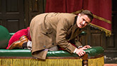 Mark Evans in The Play That Goes Wrong on Broadway.