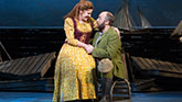 Lindsay Mendez and Alexander Gemignani in Carousel on Broadway.