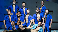 Zak Resnick and the guys of Mamma Mia!