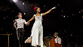 "Lucas Steele as Anatole and Denée Benton as Natasha in ""Natasha, Pierre & The Great Comet of 1812"""
