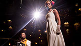 "Josh Groban as Pierre and Denee Benton as Natasha in ""Natasha, Pierre & The Great Comet of 1812"""