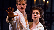 Jeremy Hays as Raoul and Julia Udine as Christine in 'The Phantom of the Opera.'
