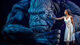 "Christiani Pitts as ""Ann Darrow"" and ""King Kong""  in King Kong on Broadway"