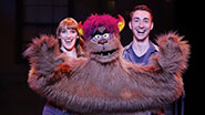 Maggie Lakis and Cullen R. Titmas as Trekkie Monster in Avenue Q.