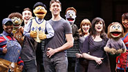 The cast of off-Broadway's Avenue Q.