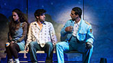 Rachel Prather, Etai Benson and Ari'el Stachel in The Band's Visit on Broadway.