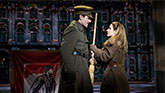 Ramin Karmloo as Gleb and Christy Altomare as Anya in Anastasia on Broadway.