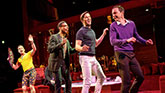 Robin De Jesús, Michael Benjamin Washington, Andrew Rannells and Jim Parsons in The Boys In The Band on Broadway