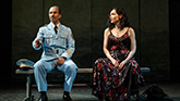 Sasson Gabay and Katrina Lenk in The Band's Visit on Broadway