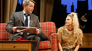 Matthew Broderick as Greg and Annaleigh Ashford as Sylvia in 'Sylvia'.
