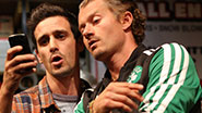 James Ransone as Packie & James Badge Dale as Swaino in Small Engine Repair.