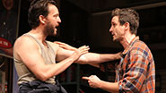 John Pollono as Frank & James Ransone as Packie in Small Engine Repair.
