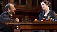 Danny Burstein as Max Hohmann and Mary-Louise Parker as Elizabeth Gaesling in The Snow Geese.