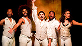Chris Anthony Giles, Nicholas Edwards, Dan Rosales, Juwan Crawley and Nora Schell in 'Spamilton'