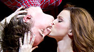 Reeve Carney and Jennifer Damiano in Spider-Man, Turn Off the Dark.