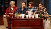 Stephen Payne, Josh Charles, Armie Hammer and Paul Schneider in Straight White Men on Broadway.
