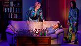 Kate Bornstein, Armie Hammer and Ty Defoe in Straight White Men on Broadway.