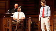 Fred Dalton Thompson as Judge Noose, John Douglas Thompson as Carl Lee Hailey & Sebastian Arcelus as Jake Brigance in A Time to Kill.