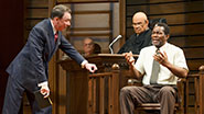 Patrick Page as Rufus Buckley, Fred Dalton Thompson as Judge Noose, & John Douglas Thompson as Carl Lee Hailey in A Time to Kill.