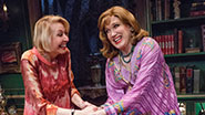 Charles Busch and Julie Halston in The Tribute Artist.