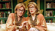 Cynthia Harris and Charles Busch in The Tribute Artist.