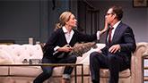 Uma Thurman as Chloe and Marton Csokas as Peter in The Parisian Woman on Broadway.