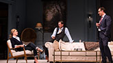 Uma Thurman as Chloe, Josh Lucas as Tom and Marton Csokas as Peter in The Parisian Woman on Broadway.
