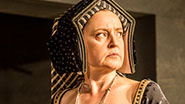 Lucy Briers as Queen Katherine of Aragon in 'Wolf Hall'