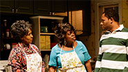 Elain Graham as Delores, Lillias White as Gertrude & Larry Powell as Calvin in 'While I Yet Live'