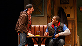 Will Pullen as Jason and Khris Davis as Chris in Sweat.