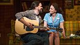 Will Swenson as Earl and Sara Bareilles as Jenna in Waitress on Broadway.