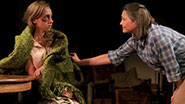 Zoe Kazan and Cherry Jones in a scene from 'When We Were Young and Unafraid'