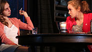 Zoe Kazan and Morgan Saylor in a scene from 'When We Were Young and Unafraid'